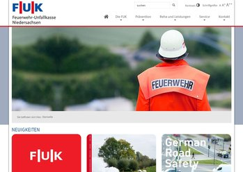 Screen desktop FUK / Feuerwehrunfallkasse Niedersachsen