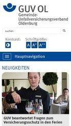 Screen mobil GUV Oldenburg - Der Gemeinde-Unfallversicherungsverband Oldenburg