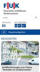 Screen mobil FUK / Feuerwehrunfallkasse Niedersachsen