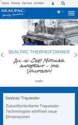 Sealpac GmbH - Kompetenz für Traysealer und Thermoformer mit TYPO3 - zur Website