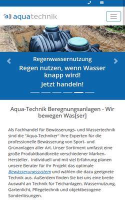 aquatechnik - automatisierte Bewässerungsanlagen und unterschiedlichste Arten von funktionaler oder dekorative Wassertechnik seit 25 Jahren - zur Website