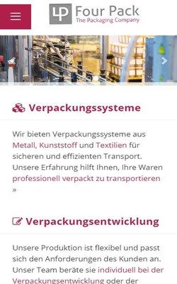 Four Pack GmbH - Neuer Webauftritt der Verpackungsspezialisten - natürlich auch für mobile Endgeräte