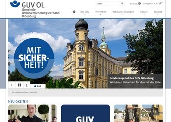 Screen desktop GUV Oldenburg - Der Gemeinde-Unfallversicherungsverband Oldenburg